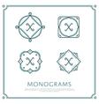 Letter X Monogram vector image