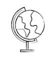 sketch draw world map cartoon vector image