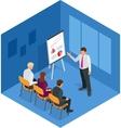 Training concept business man Flat design vector image