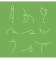 yoga pilates big set of symbols vector image