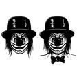 clown in head vector image vector image