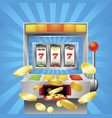 slot fruit machine winning vector image