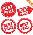 Stamp sticker best price tag collection - - vector image