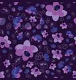 trendy flower sakura background seamless pattern