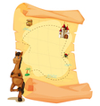 A map with a horse vector image vector image