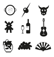 Symbols of Spain vector image