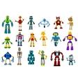 Cyborgs robots and aliens set vector image