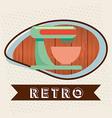 retro icon vector image