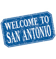 welcome to San Antonio blue square grunge stamp vector image
