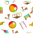 Attractions for children pattern cartoon style vector image