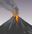 Crater mountain volcano hot natural eruption Smoke vector image
