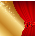 curtains bow red vector image