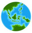 cute globe cartoon vector image