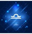 Libra sign of the zodiac vector image