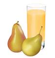 pears juice1 vector image