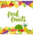 seamless fruits horizontal border vector image
