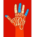 Typographical retro Birthday Card vector image