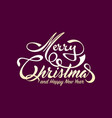 white text marry christmas and happy new year vector image