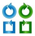 Color arrows shiny design set vector image