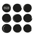 black abstract circles set from thick black vector image vector image
