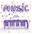 piano doodle vector image vector image