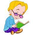 cute cartoon boy with a book vector image