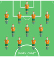 Computer game Ivory Coast Football club player vector image