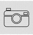 Digital photo camera line icon vector image