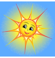 bright cartoon of a smiling sun i vector image