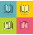 Book icons with shadow vector image