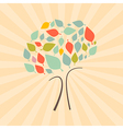 Abstract Retro Tree vector image