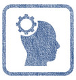 intellect gear fabric textured icon vector image