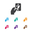of excitement symbol on lucky vector image
