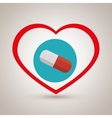 symbol medicine pills icon vector image