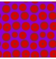 The pattern of red circles on a purple background vector image
