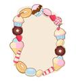 Desserts frame vector image