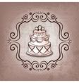 cake on polka dot background vector image