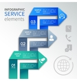 Origami infographics service template vector image