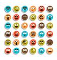 set of emotion smiling faces vector image