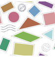 Stamps icons pattern vector image vector image