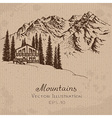 Mountain House vector image