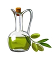 olive oil with olives painted vector image