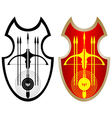 Shield crossbow and arrows-1 vector image vector image