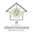 Logo Electric Home Light Energy Bright Symbol vector image