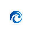 abstract round wave water logo vector image