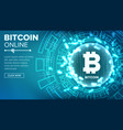 bitcoin abstract technology background vector image