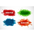 Set of Bright splashes isolated on a white vector image