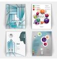set of business brochures vector image