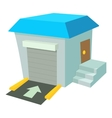 Warehouse icon cartoon style vector image
