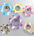 Abstract Color Gears infographics vector image
